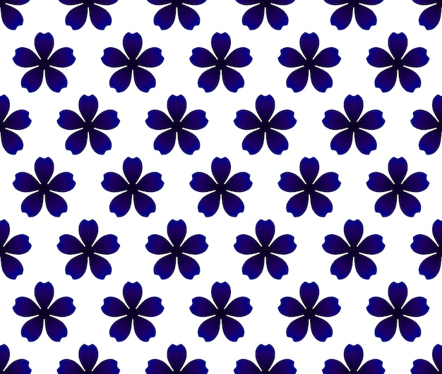 Modello senza saldatura fiore blu