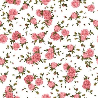 Modello senza saldatura rose fiori