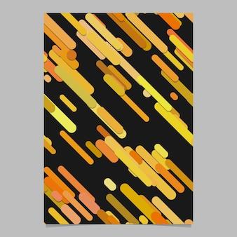 Modello senza soluzione di continuità caotica arrotondata diagonale pattern modello di brochure - vector stationery sfondo design da strisce in tonalità arancione
