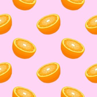 Modello senza soluzione di continuità con le arance