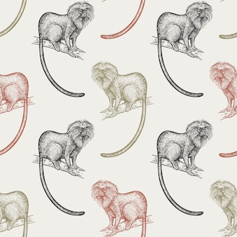 Modello senza soluzione di continuità con le scimmie
