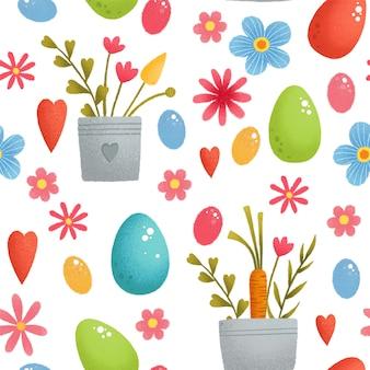 Modello senza soluzione di continuità con le uova di pasqua