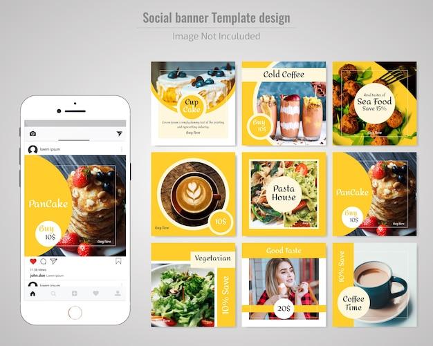Modello sociale dell'alimento di alimento del ristorante dell'alimento
