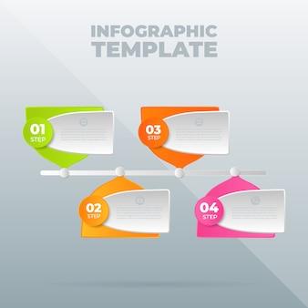 Modello struttura infografica con opzioni o passaggi