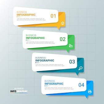 Modello struttura infografica di affari