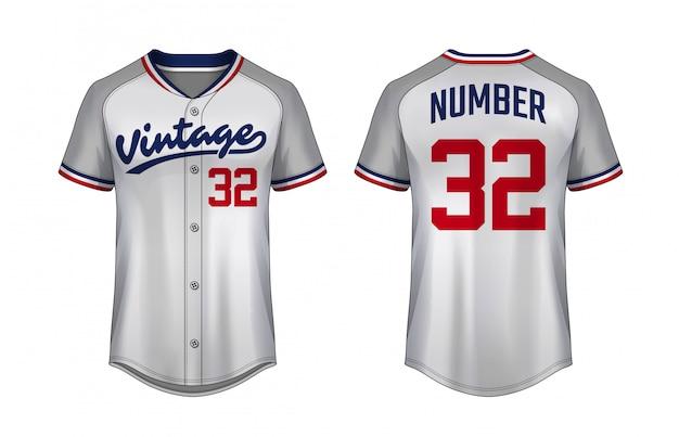 Modello t-shirt da baseball
