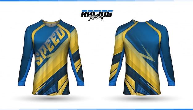 Modello t-shirt, design maglia da corsa, maglia da calcio