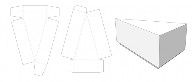 Modello tagliato della scatola della fetta della torta