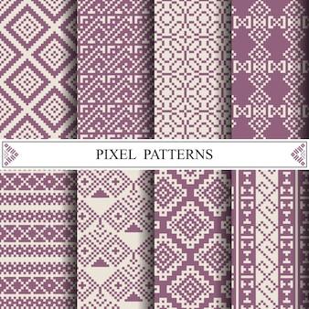 Modello tailandese del pixel per la fabbricazione del tessuto del tessuto o del fondo della pagina web.