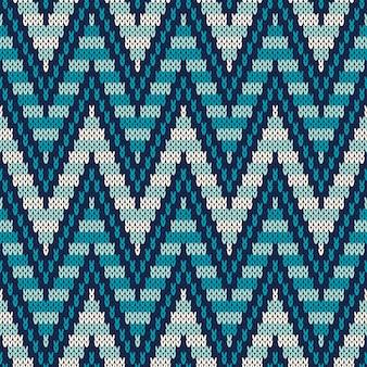 Modello tradizionale fair isle. ornamento a maglia senza soluzione di continuità
