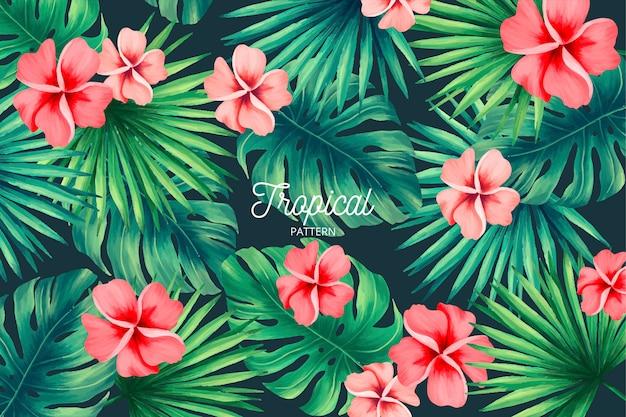 Modello tropicale con natura esotica