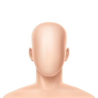Modello umano senza volto realistico 3d
