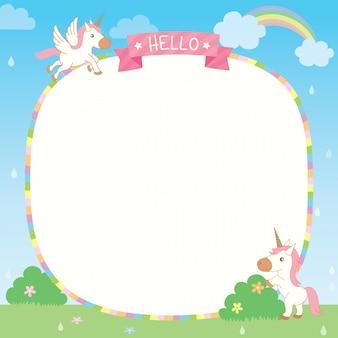 Modello unicorno arcobaleno