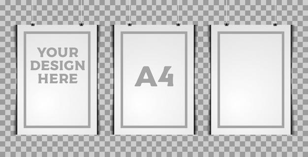 Modello verticale a tre poster