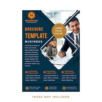Modello verticale di business aziendale per brochure, relazione annuale, catalogo, rivista, flyer, banner.