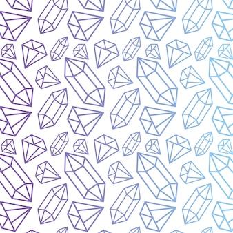Modello vettoriale con diamanti