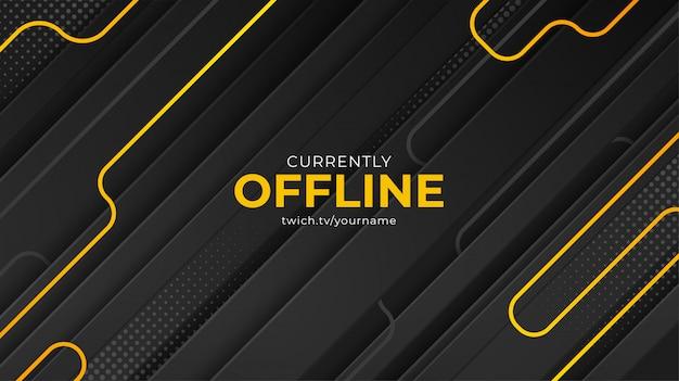 Modello vettoriale di sfondo banner twitch attualmente offline