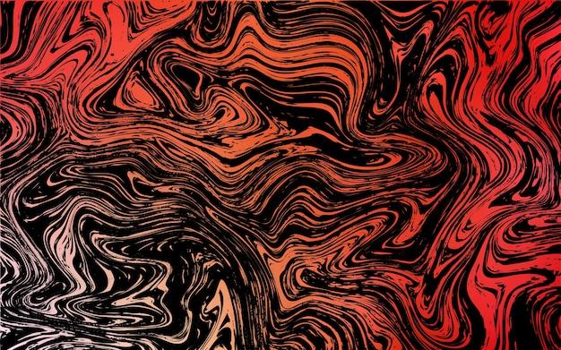 Modello vettoriale rosso scuro giallo con forme liquide