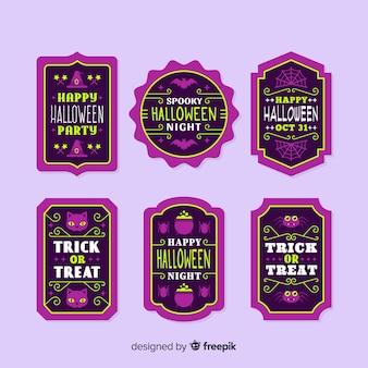 Modello vintage per etichetta e badge halloween