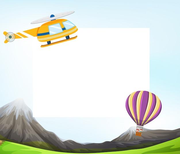 Modello vuoto di trasporto aereo