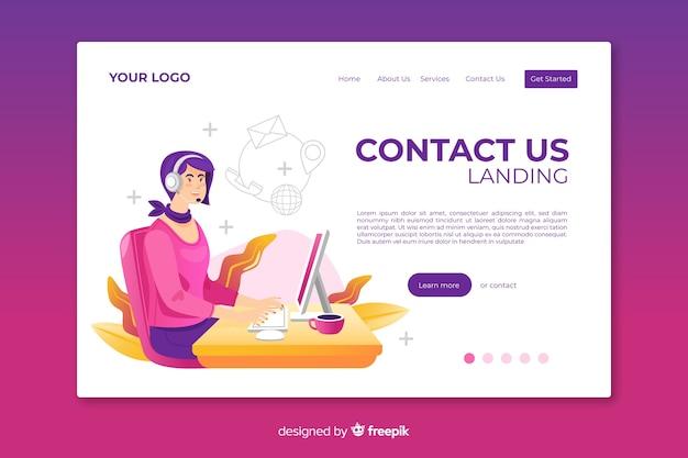 Modello web contattaci landing page