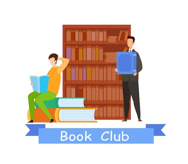 Modello web del club del libro con testo