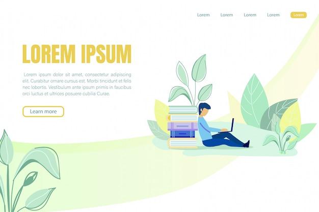 Modello web della pagina di destinazione