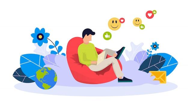 Modello web di blog e freelance