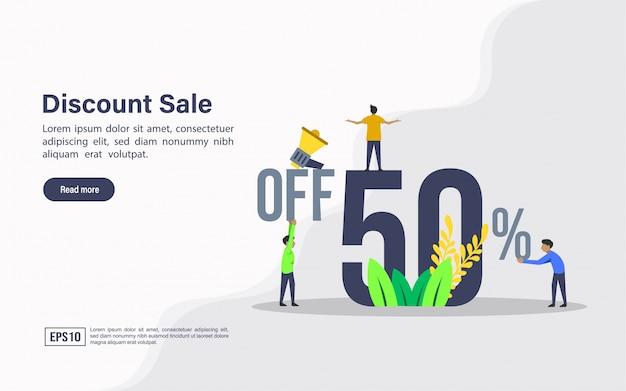 Modello web di pagina di destinazione della vendita di sconto