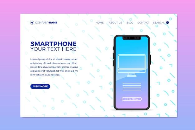 Modello web per affari con il telefono