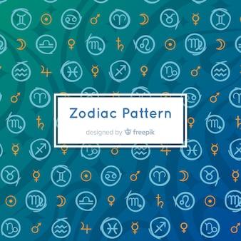 Modello zodiacale disegnato a mano