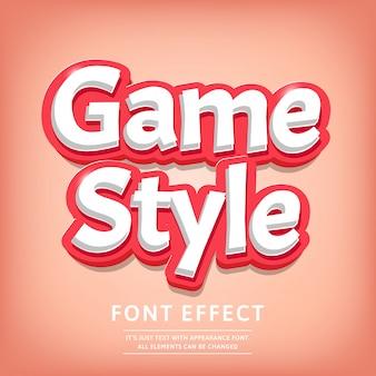 Modern 3d typeface effetto testo titolo stile comico