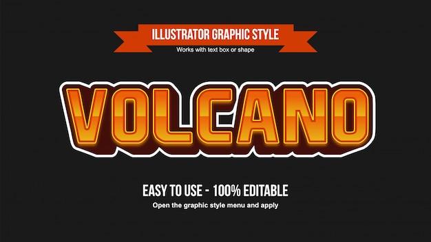 Modern esports gaming effetto testo modificabile arancione 3d