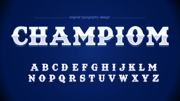 Modern gray blue sports typography