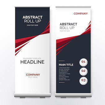 Modern roll up con forme astratte