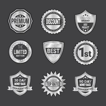 Modern shopping badge collezione emblema di scudi di alta qualità