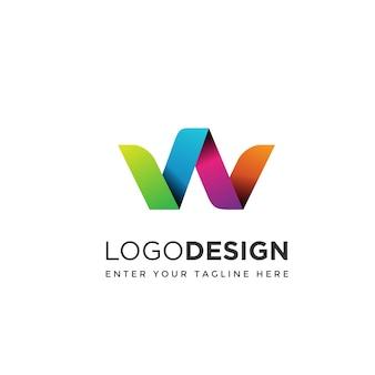 Modern w logo design