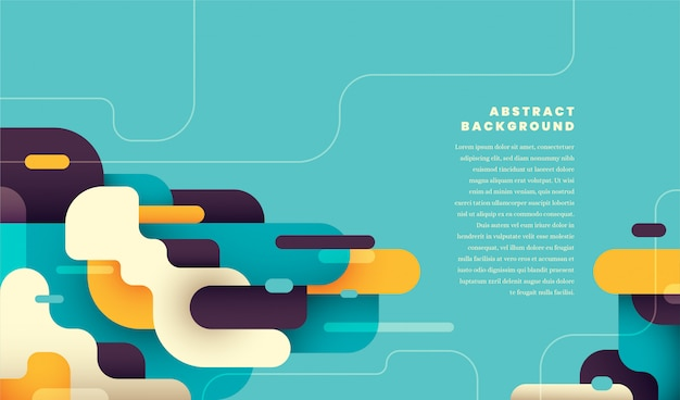Moderna composizione astratta con forme arrotondate di colore.