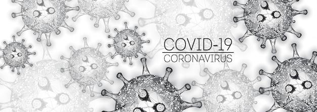Moderna coronavirus 2019-ncov, modello di banner web covid-19 in nero su sfondo bianco.