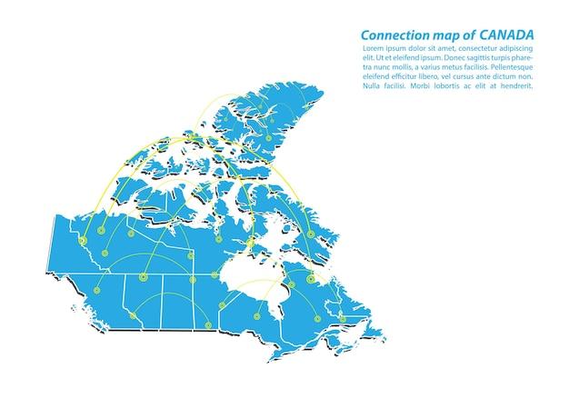 Moderna della progettazione della rete di collegamenti della mappa del canada