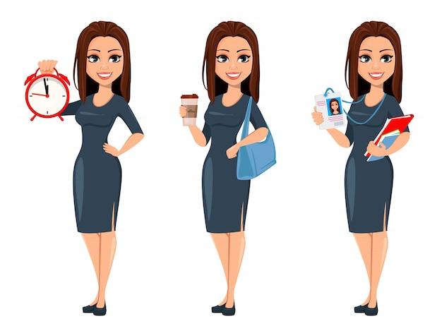 Moderna giovane donna d'affari