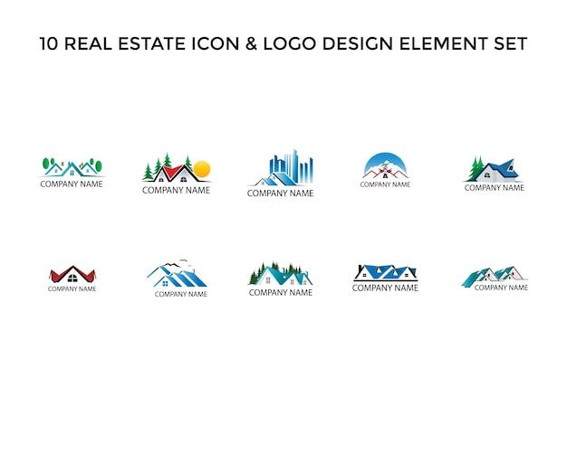 Moderna icona immobiliare logo design set