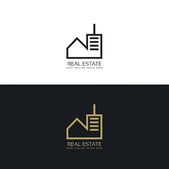 Moderna immobiliare logo design concept