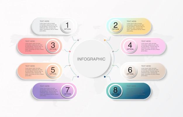 Moderna infografica colorato.