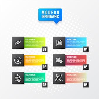 Moderna infografica colorato