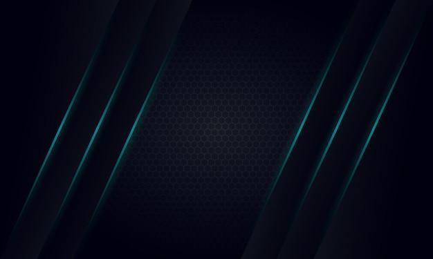 Moderna linea blu astratta su sfondo scuro