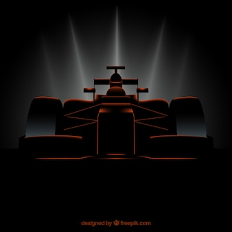 Moderna macchina da corsa di formula 1 con uno stile realistico