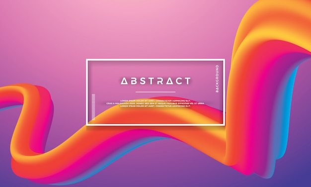 Moderna onda colorata astratta, flusso di liquido sfondo
