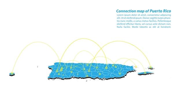Moderna rete di collegamenti con la rete di porto rico