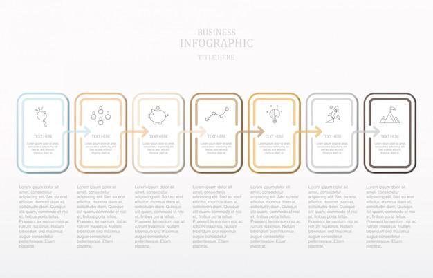 Moderna scatola quadrata testo infografica.